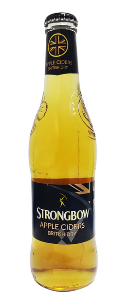 24 x Strongbow British Dry Apple Cider Bottle Case