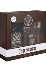 Jägermeister Spice 1L Gift Set w/Hipflask and 2 Gift Glasses