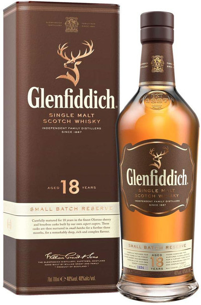 Glenfiddich 18 bottle with box