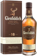 Glenfiddich 18 year bottle with box