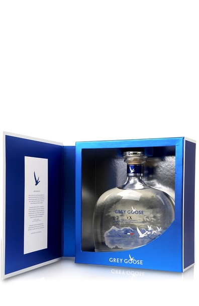 Grey goose vx bottle with box