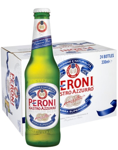 Peroni Nastro Azurro Beer Bottle with Case