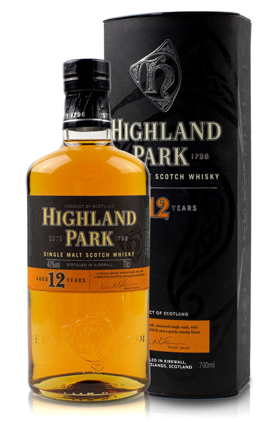 Highland park 12 year with box