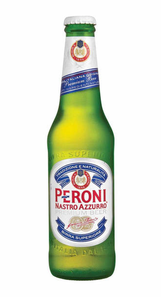 Peroni nastro azurro beer bottle
