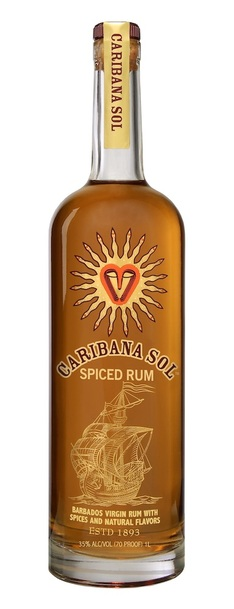 Caribana Sol Spiced Rum Bottle