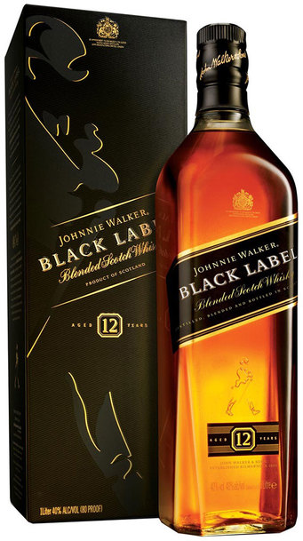 Johnnie Walker Black Label 1L w/Gift Box