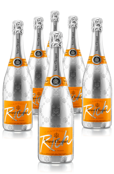 Festive 6 bottles of Veuve Clicquot Rich