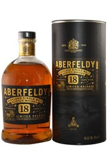 Aberfeldy 18 Year Highland Single Malt bottle with box