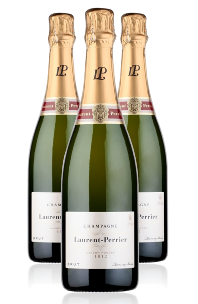3 x Laurent Perrier Brut w/Gift Box