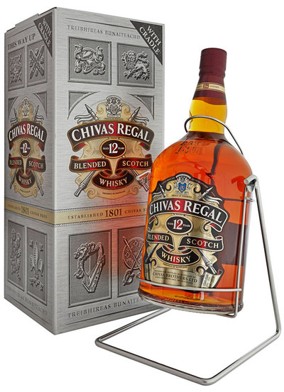 Chivas Regal 12 Year 4.5L and Cradle