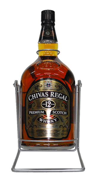 Chivas regal 12 year 4 5l bottle and cradle