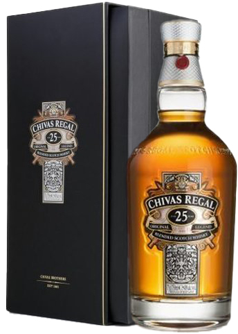 Chivas Regal 25 Year Bottle with Box