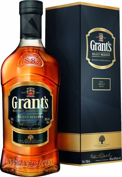 Grants Select Reserve 750ml Bottle and box