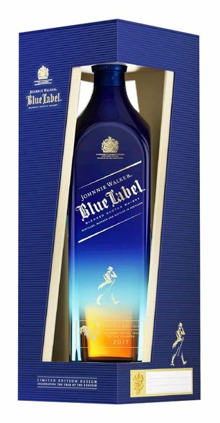 Johnnie Walker Blue Label Karmen Line Limited Edition bottle in box