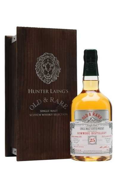 Bowmore Old & Rare 25 Year (Hunter Liang) bottle and box