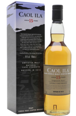 Caol Ila 15 Years Old Unpeated bottle and box