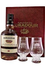 Edradour 10 Year Gift Pack with 2 Glasses