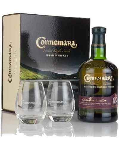 Connemara Distillers Edition 700ml Gift Set with 2 Glass