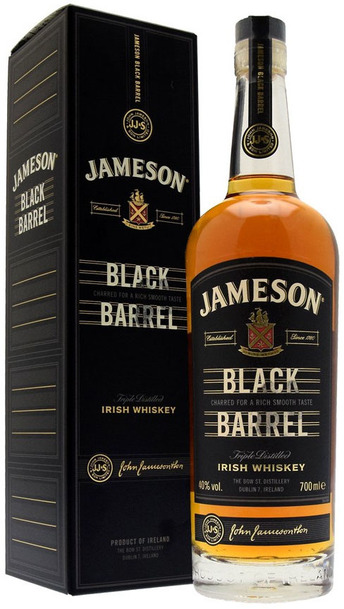 Jameson Black Barrel Bottle and Box