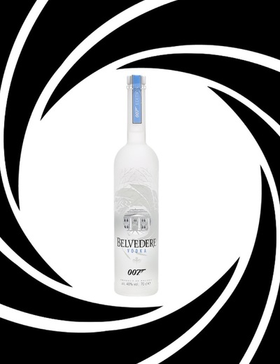 Belvedere 007 limited edition bottle in logo
