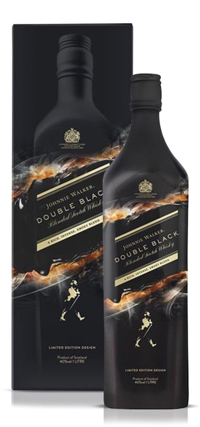 Johnnie Walker Double Black 1L Shadow Limited Edition bottle and box