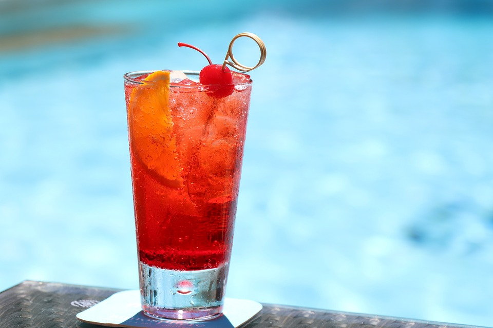 singapore sling in a glass