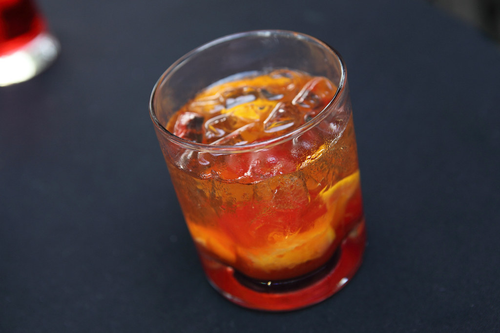 old fashioned in rocks glass